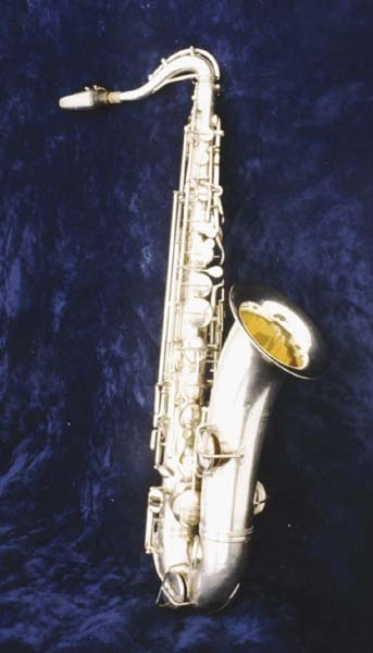 Tenor saxophone used by Martin Miller in the 130th Field Artillery, 35th Division, World War I.