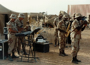 1st Infantry Division Band, Fort Riley, in Saudi Arabia, 1991.