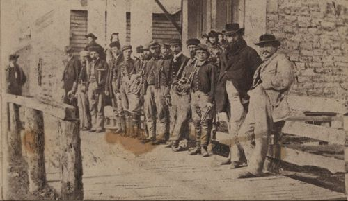 General James Blunt with members of his band during the Civil War.