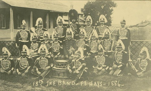 18th Infantry Band at Fort Hays, 1886.
