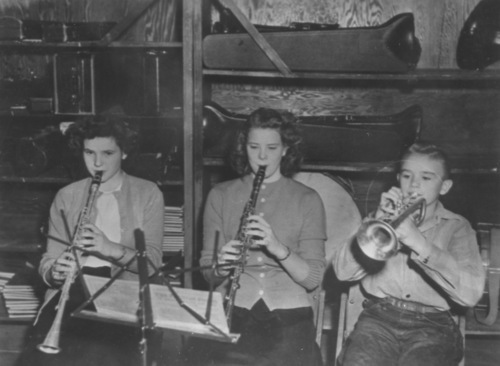 Cheney High School Band members, 1950s.