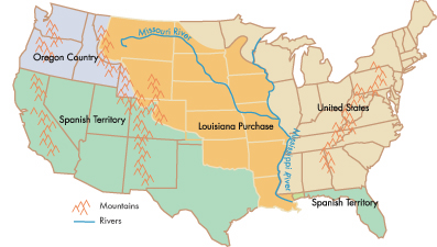 Beyond Lewis And Clark Timeline Kansas Historical Society - Map of us territories in 1803