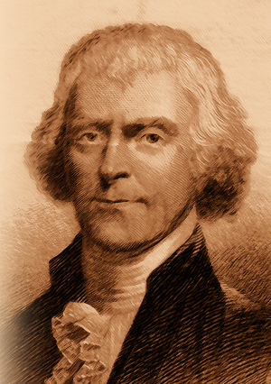 Thomas Jefferson.  Image courtesy of Virginia Historical 