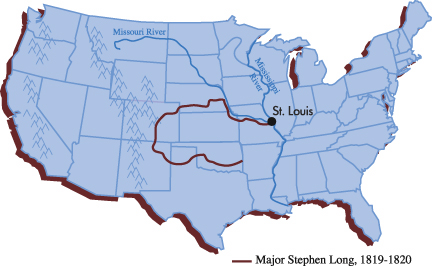 Beyond Lewis And Clark Timeline Kansas Historical - 1819 map of us