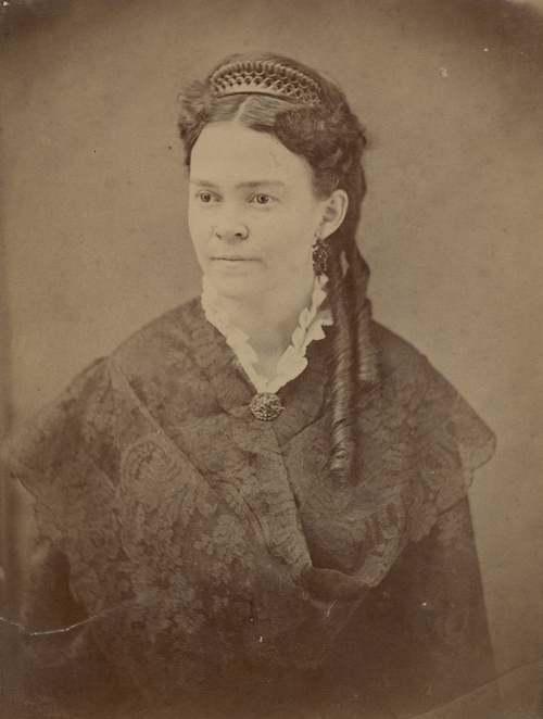 Carry Nation as a young woman, ca. 1870.