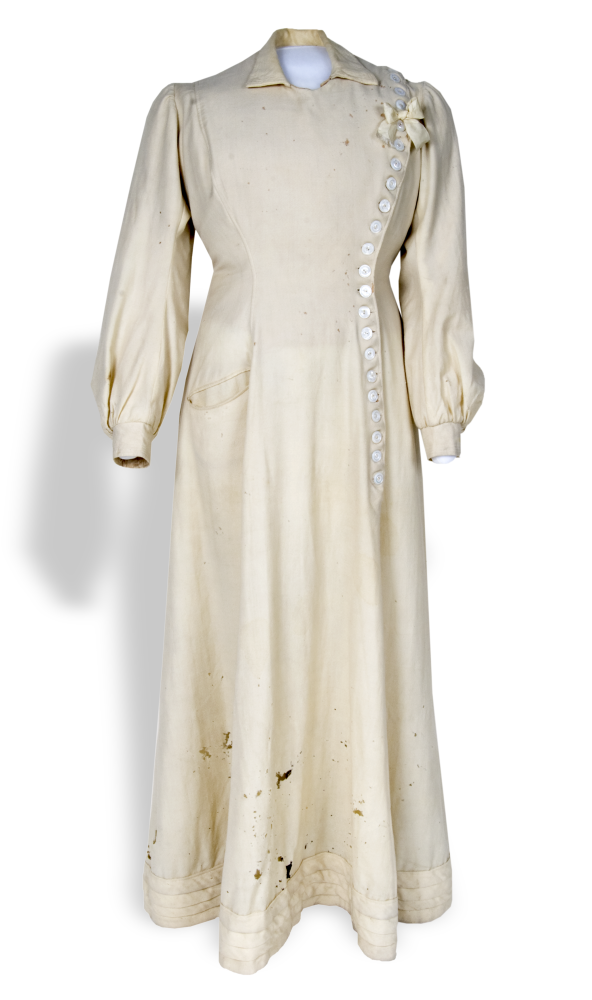 Wool dress worn by Carry Nation.