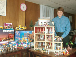 Marsha with her Playmobil collection.