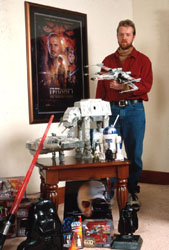 Bill with his Star Wars collection.