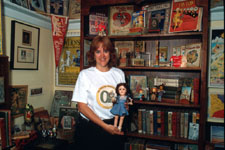 Jane with her Wizard of Oz collection.