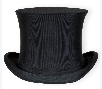 Top hat worn by Dr. C.F. Menninger, who co-founded the Menninger Clinic in Topeka in 1919.