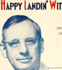 1936 Landon for President Happy Landin' with Landon sheet music