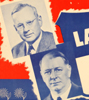 1936 Landon for President Deeds not Deficits poster