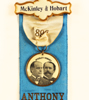 1889 McKinley and Hobart ribbon for speech in Anthony