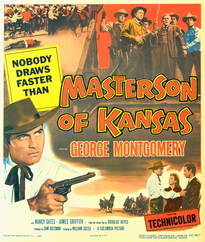 Movie poster, Masterson of Kansas (1954)