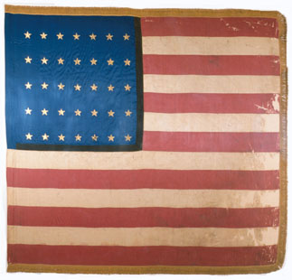 National flag for First Kansas Colored Infantry.