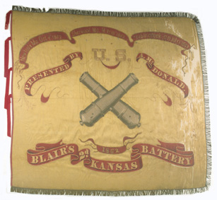 Second Kansas Battery flag.