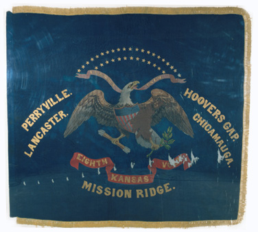 Eighth  Kansas Infantry regimental flag.