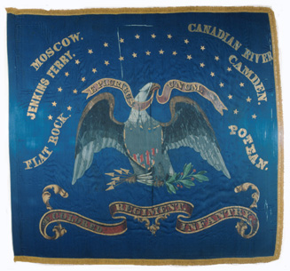 Regimental flag of the  Second  Kansas Colored Infantry.