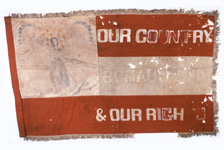 Pike Guards flag captured at Camden, Arkansas, 1864.