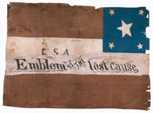 Confederate flag that may have been captured at Chickamauga.