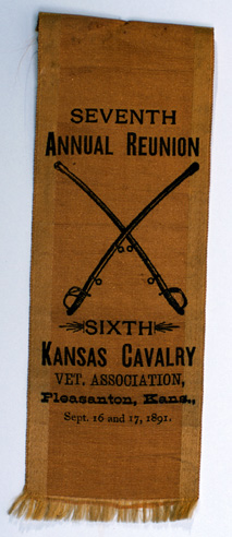 Ribbon from  reunion of a Grand Army of the Republic Kansas chapter.