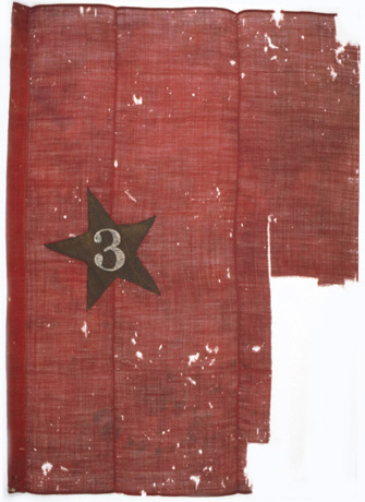 Brigade flag, Twentieth Army Corps, First Division, Third Brigade.   The Eighth Kansas was a regiment in this brigade.