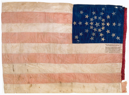First Kansas Colored  Infantry flag, Company F.