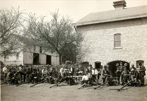 Students at Kansas State University, the nation's first land grant school