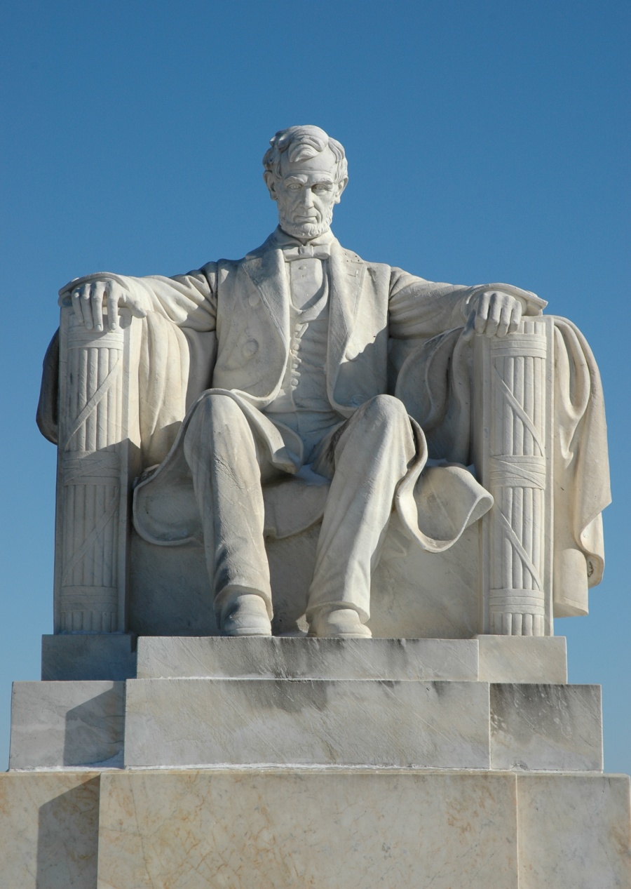 Lincoln's statue at Mount Hope Cemetery, Topeka