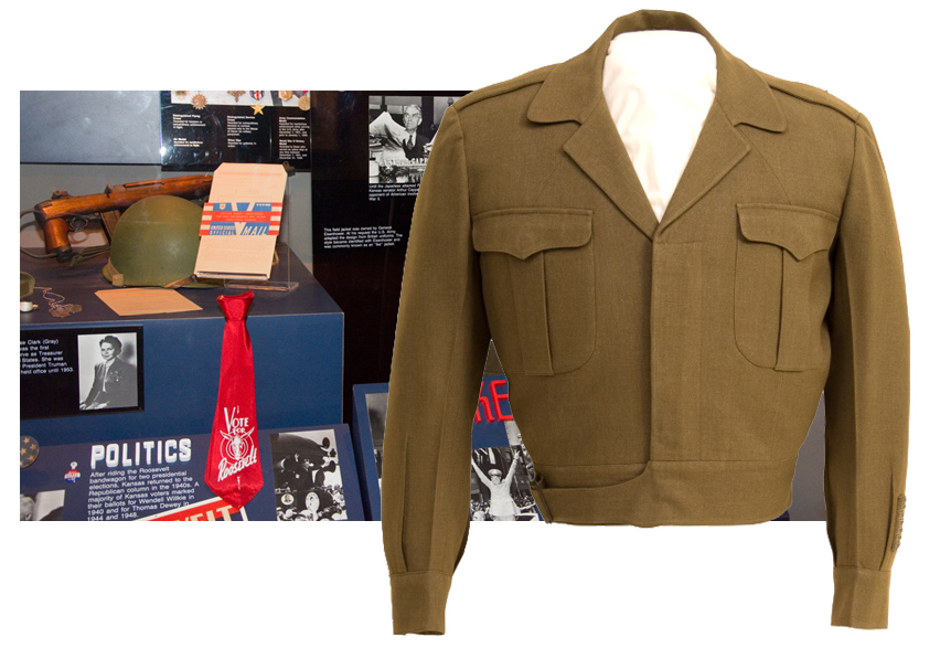 Eisenhower's jacket at the Kansas Museum of History