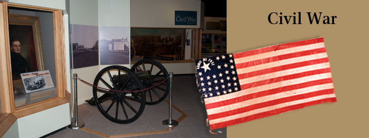 Civil War section in the main gallery of the Kansas Museum of History