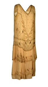 Peach chiffon dress, 1929.