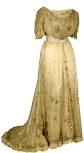 Net and satin dress, 1907.