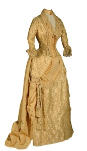 Gold brocade gown, 1888.