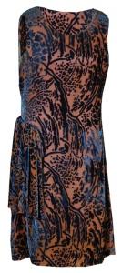 Cut velvet dress, 1920s.