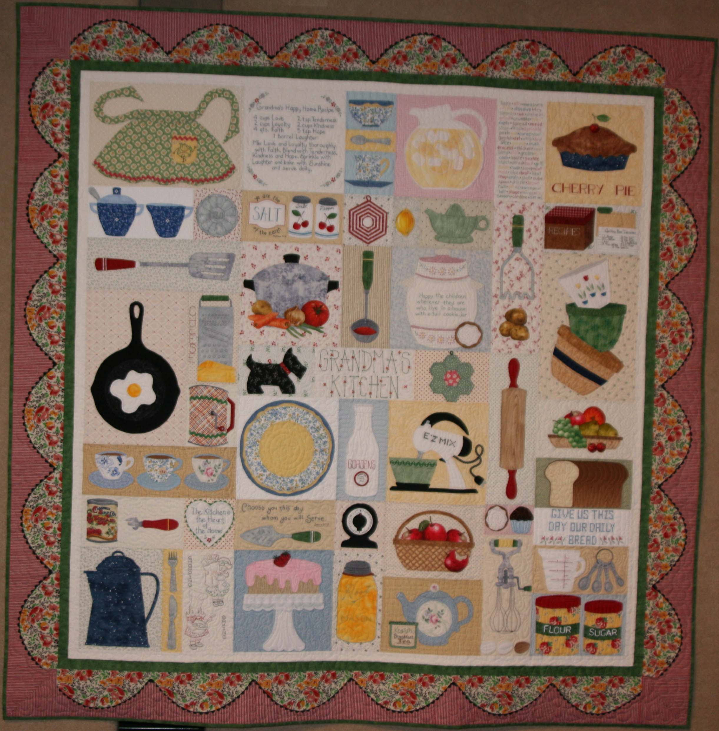 Speaking of quilts kansas historical society for Quilted kitchen set