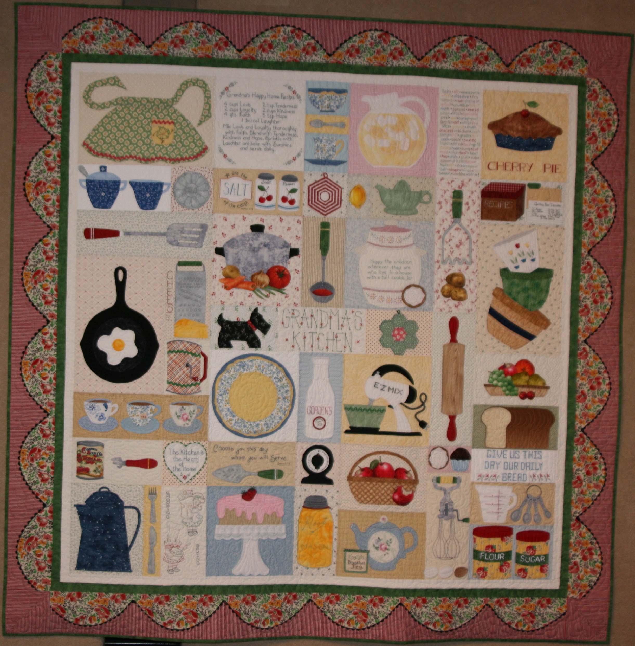 Grandma's kitchen quilt