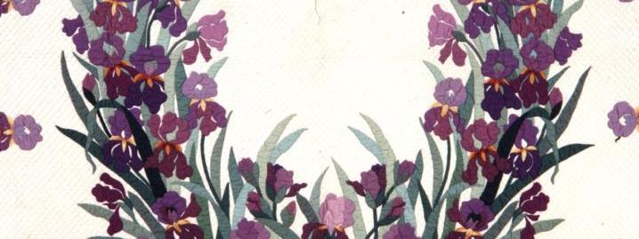 Iris Garden quilt