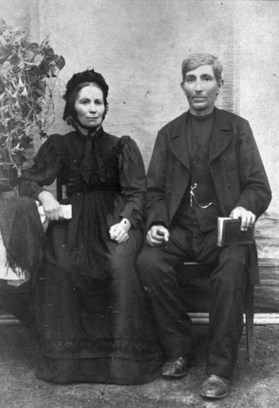 Unidentified Mennonite couple in Russia