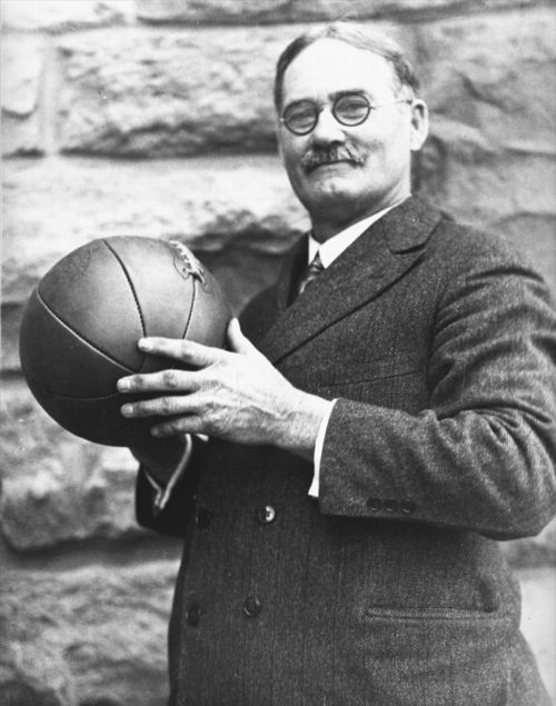 James Naismith, inventor of basketball, at the University of Kansas, 1920s
