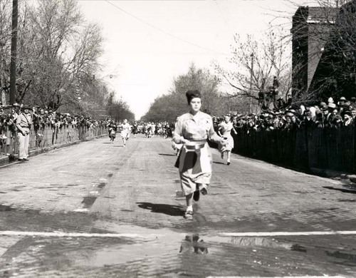 Annual Pancake Race in Liberal, 1960s