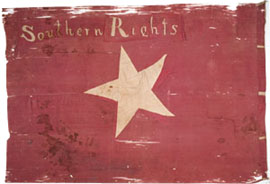 Southern Rights flag carried by South Carolinians in the attack on Lawrence.