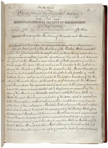 Kansas-Nebraska Act of 1854.  The National Archives considers it one of the nation's top 100 milestone documents.