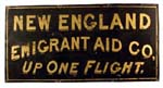 New England Emigrant Aid Company sign.
