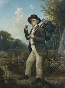Andrew Reeder disguised as a woodcutter to escape a proslavery mob.