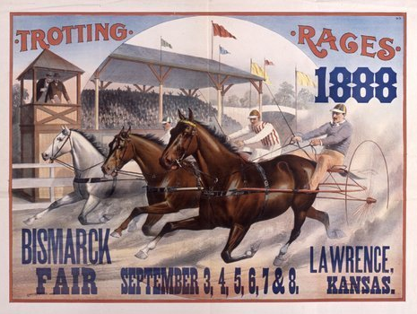 Limited gambling was allowed on horse racing at Kansas fairs.