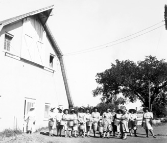 Dairy barn at State Industrial Farm for Women, Lansing, where women with venereal disease were imprisoned.
