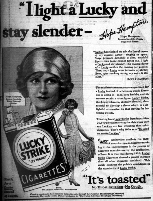 1929 smoking ad
