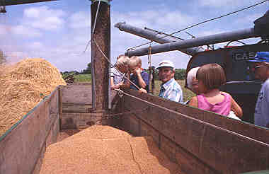 Goessel's annual Threshing Days celebration, 1998.