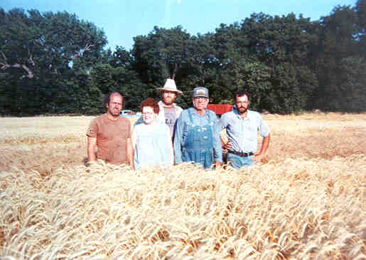 Jagger family in wheat field
